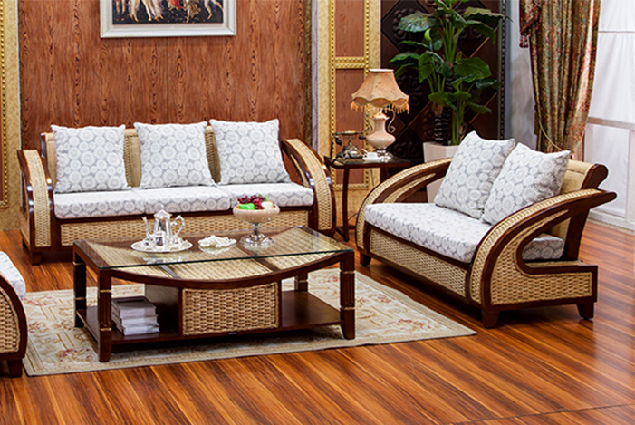 Merveilleux Rattan And Wood