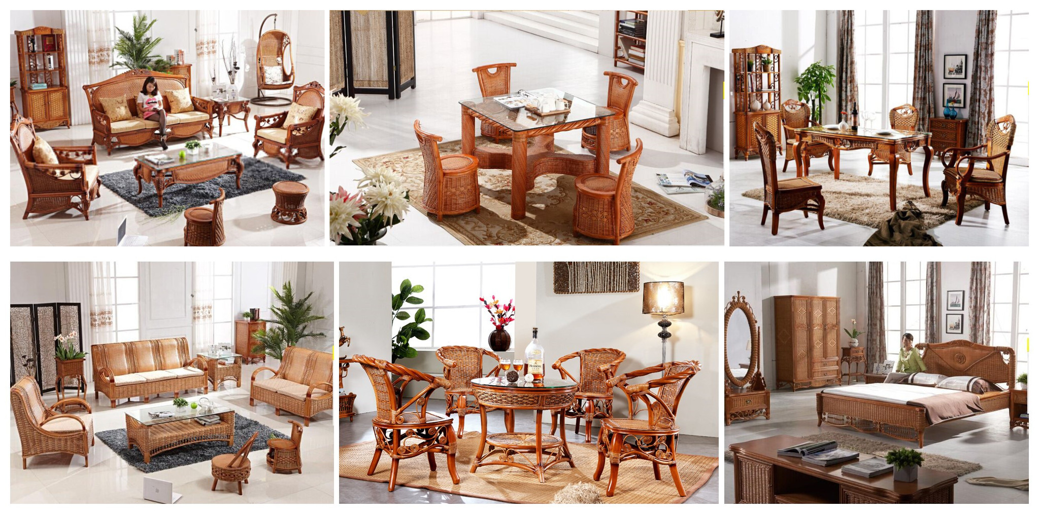 Braxton Culler Indoor Wicker Furniture Rattan Wood