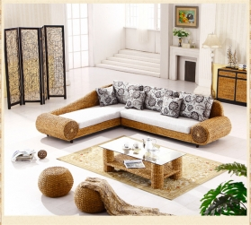 Rattan + Seagrass Sofa Series 05