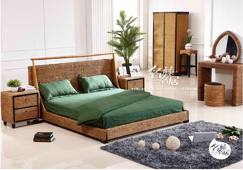 rattan bedroom whole sets 8