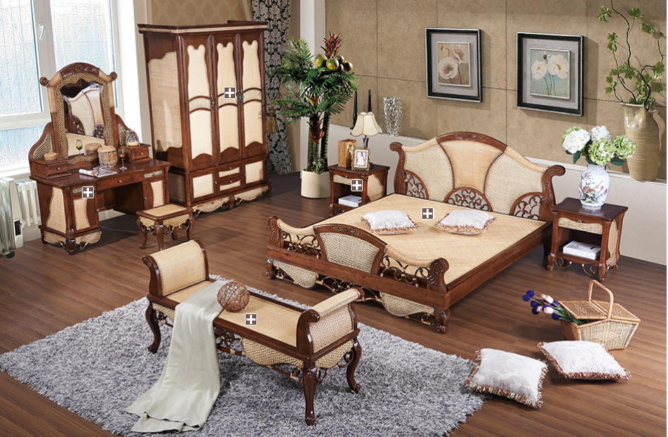 rattan bedroom whole sets 3