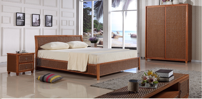 rattan bedroom whole sets 4
