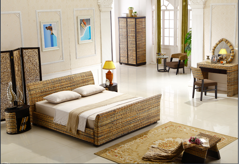 rattan bedroom whole sets 6