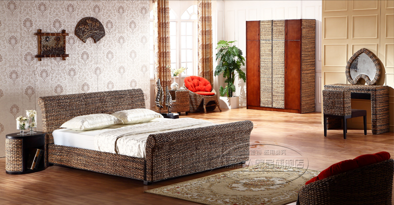 rattan bedroom whole sets 7