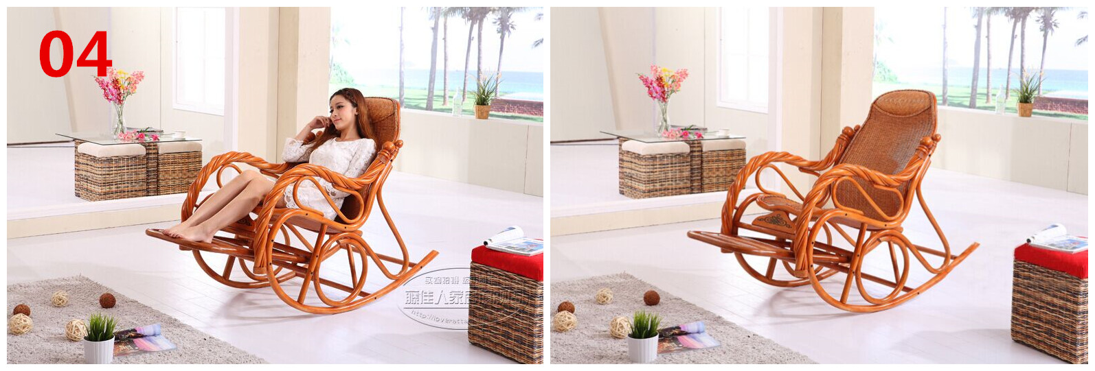 what is a wicker rocking chair made in china