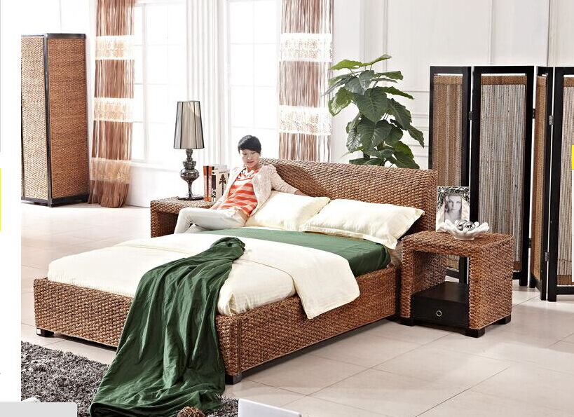 holiday resort bedroom project with pottery barn seagrass furniture - Seagrass Headboard