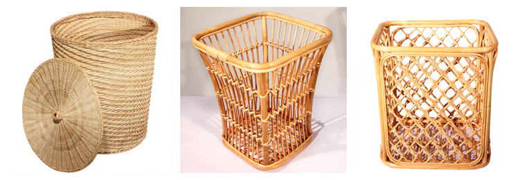 Rattan Wicker Baskets for hotel clothes collection