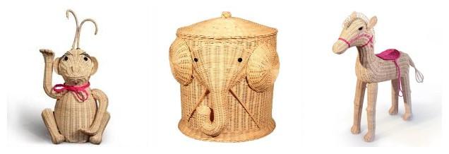 Rattan craft and arts : rattan wicker animals1