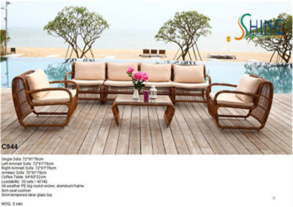 Outdoor rattan wicker sofa sets i kd not kd for Cane and wicker world