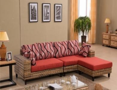 Rattan + Seagrass Sofa Series 01