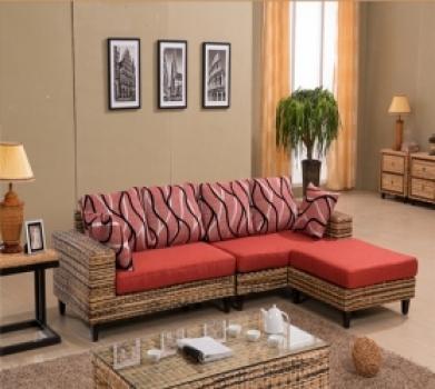 Bon Rattan + Seagrass Sofa Series 01