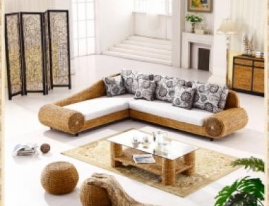 Genial Rattan + Seagrass Sofa Series 05
