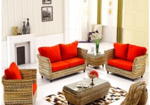 Rattan + Seagrass Sofa series 06