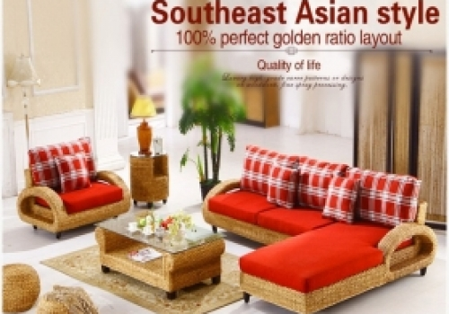 Rattan + Seagrass Sofa series 9