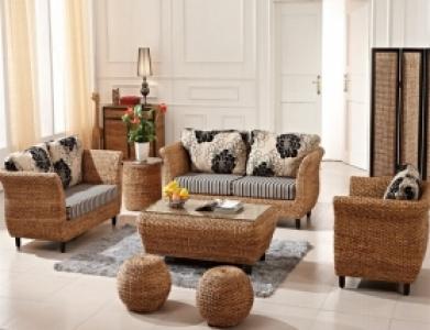 Rattan + Seagrass Sofa Series 18