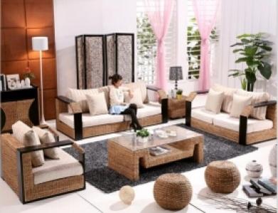 Rattan + Seagrass Sofa Series 24